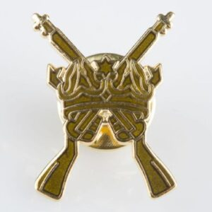 Gold Cross Rifles Pin Badge