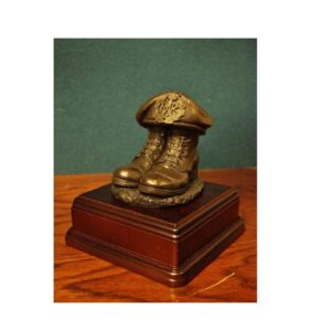 RAF Boots And Beret, Square Display Base