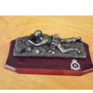RAF Bronze Prone Figure