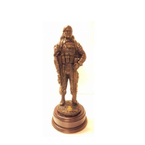 RAF Gunner with Mortar