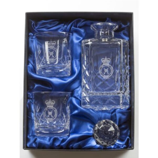 RAF Heritage Decanter and 2 Tumbler Glasses