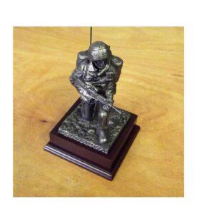 RAF Kneeling Signalman Bronze Figure