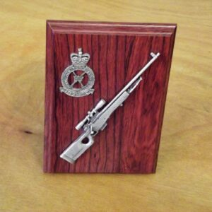 RAF L96 Sniper Rifle Small Scale Weapon Plaque