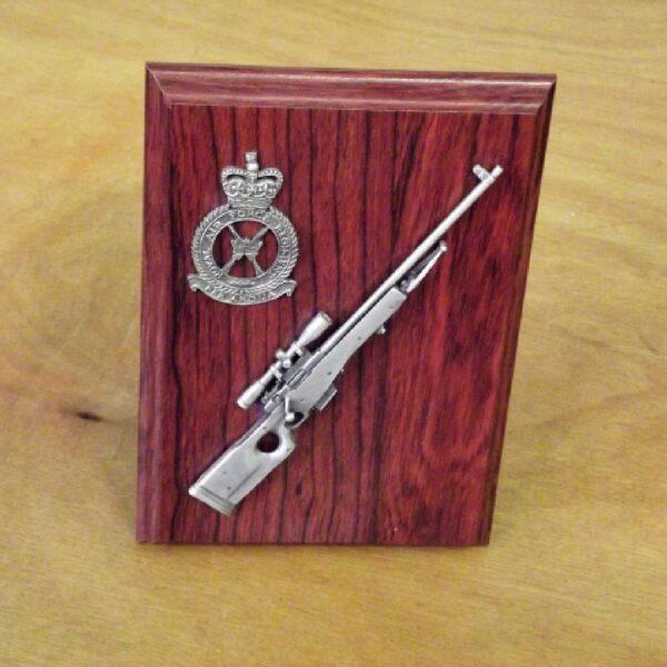 RAF L96 Sniper Rifle Small Scale Weapon Plaque