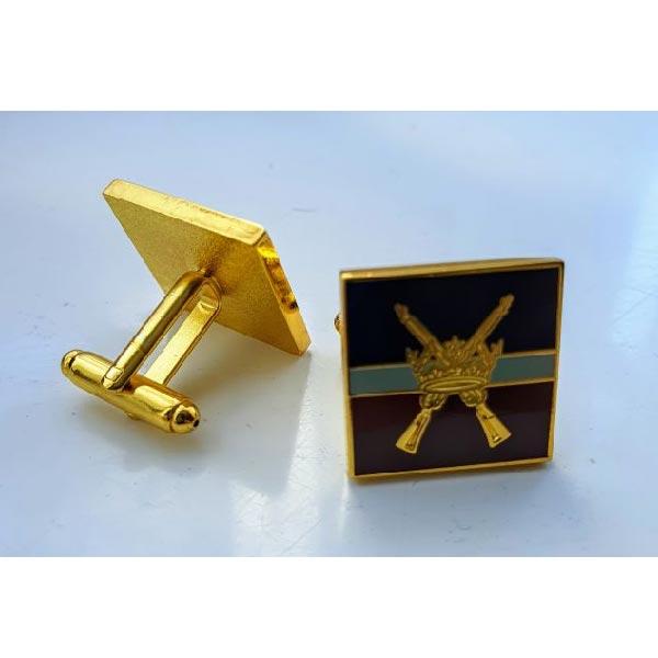 RAF R Crossed Rifles Cufflinks Regiment
