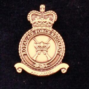 RAF Regiment Bronze Finish Lapel Pin