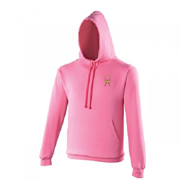 RAF Regiment Hoodie Candy Floss Pink Hot Pink
