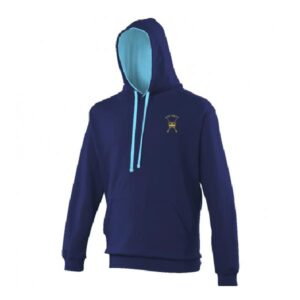 RAF Regiment Hoodie Oxford Navy Hawaiian Blue