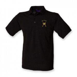 RAF Regiment Polo Shirt Black
