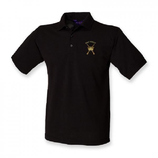 RAF Regiment Polo Shirt Black