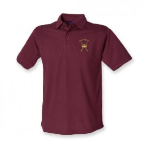 RAF Regiment Polo Shirt Burgundy