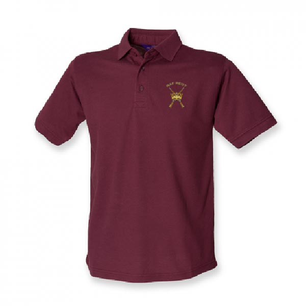 RAF Regiment Polo Shirt Burgundy