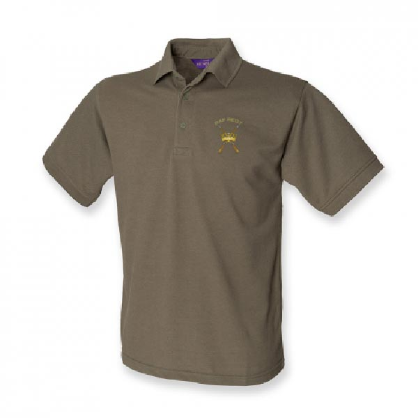 RAF Regiment Polo Shirt Olive Green