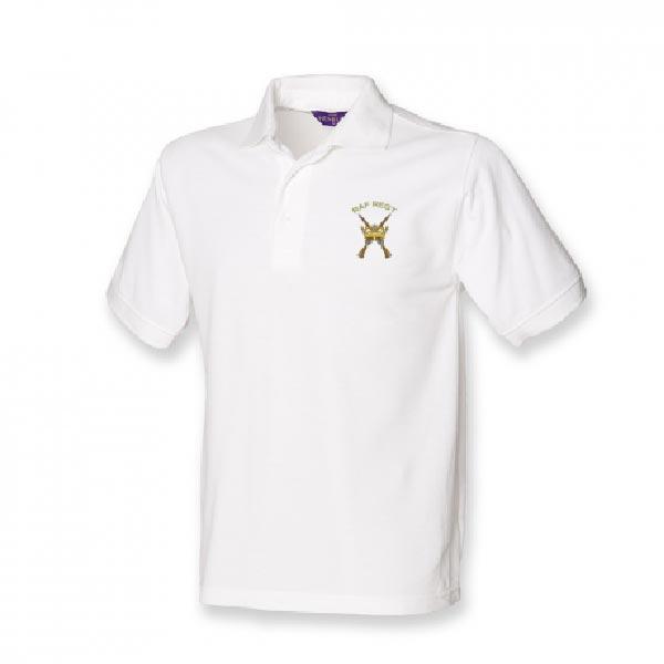 RAF Regiment Polo Shirt White