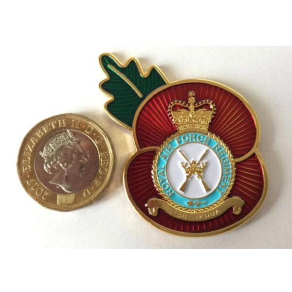 RAF Regiment Remembrance Day Enamel Lapel Badge-2