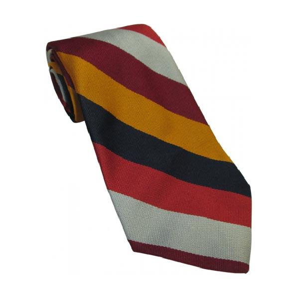 RAF Regiment Striped Tie Silk
