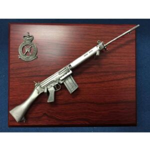 RAF SLR Rifle Small Scale Weapon Plaque